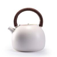 电陶炉煮茶器白泥苏打釉开片陶壶烧水壶陶瓷茶炉养生泡茶壶石斑壶