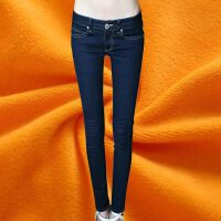 【单裤/加绒】百搭韩版弹力低腰牛仔裤女小脚铅笔裤修身显瘦长裤