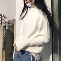 秋冬高领毛衣女学生韩版修身显瘦短款保暖针织百搭长袖打底衫