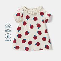 【618年中庆 119元任选2件】迷你巴拉巴拉儿童连衣裙2020夏季婴儿宝宝水果印花可爱A字裙子