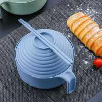 小��秸�餐具���碗筷套�b�W生�盒宿舍���w大碗日式泡面碗神器
