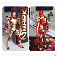复仇者联盟2奥创纪元MK42/MK43钢铁侠 9寸金属漆可发光可动人偶模型