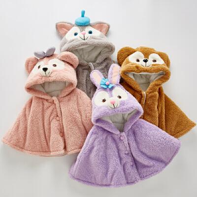 儿童宝宝外出fang风斗篷披风加厚秋冬季披肩外套女孩