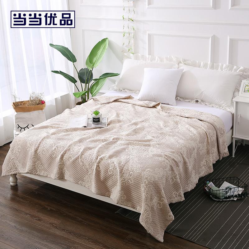 当当优品夏凉毯 全棉提花三层冷感纤维空调毯150x200cm 佩吉
