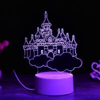 3d小夜灯led创意usb触摸感应遥控台灯卧室床头浪漫喂奶起夜少女灯