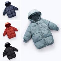 儿童中长款外套厚款棉袄棉衣宝宝冬季棉服男孩女孩
