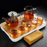透明玻璃功夫茶具套装家用内胆过滤煮茶壶茶杯礼包茶盘