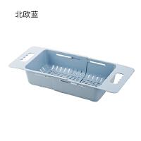 厨房置物水槽沥水架 伸缩水槽置物架塑料沥水架厨房放碗筷架子家用碗碟架收纳架