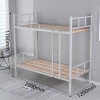 钢架高低床 加厚上下铺铁床员工宿舍双层床学生高低床铁艺床公寓床铁架床 其他 1.2米以下