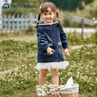 迷你巴拉巴拉女童外套灯芯绒2020新款秋装女宝宝外出便服海军风