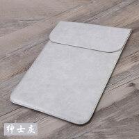 苹果笔记本air13.3寸电脑包Macbook12内胆包pro13保护套15皮套 灰-PU竖款 12寸