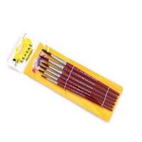 马利牌水彩画笔尼龙马利水彩笔水粉油画丙烯画笔6支套装G1106 水彩颜料画笔 水彩笔套装