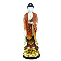 观音佛像汉白玉供奉菩萨家用摆件大势至西方三圣玉佛 阿弥陀佛像