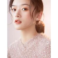 睡觉不用摘的耳钉星星纯银耳环女韩国简约气质个性迷你耳饰品