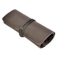 烟斗收纳包 三斗手工 烟斗包大容量 复古收纳包牛皮S2010 BX 巧克力色