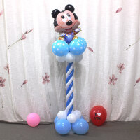 宝宝生日周岁百天派对迎宾气球立柱婚礼布置装饰用品路引 米奇