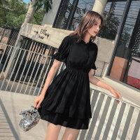 雪纺连衣裙2019新款夏季流行夏天裙子小个子裙子仙女超仙森系学生 X