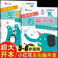 3册 5-6岁全脑思维游戏1001题 聪明孩子智力测试600题天才大脑潜能开发 儿童益智找不同走迷宫书图书智力开发书籍幼