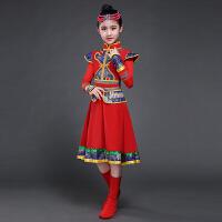 少儿童蒙族舞蹈裙子幼儿园少数民族蒙古族女孩表演出服装女童