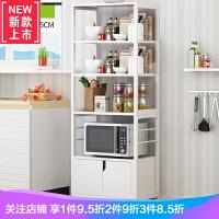 双庆不锈钢多功能微波炉架子落地厨房置物架收纳架双层调味烤箱架