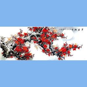 著名花卉画家,中国书画家协会理事,长安东方书画院院长田成喜(寒香傲雪)