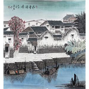 斗方山水国画《红叶诗情》梁永亮-实力派专职画师ML1861CCO