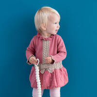 davebella戴维贝拉女童宝宝秋冬季针织长袖连衣裙