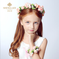 儿童头饰花童唯美新娘花环手花套装礼服配饰花童饰品女孩