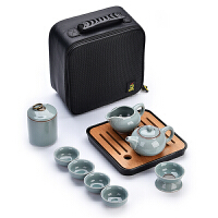 旅行茶具套装便携包家用简约小日式陶瓷茶杯汝窑功夫茶具干泡茶盘