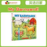 凯迪克图书 英文原版绘本 My Barnyard! :A Read and Play Book! 动物认知 纸板 美国
