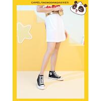 骆驼女鞋&NONOPANDA 2019新款夏季学生韩版板鞋百搭高帮帆布鞋女