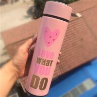 不锈钢保温杯女学生韩版便携男清新创意文艺水瓶茶杯大容量水杯子