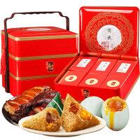 真真老老粽子礼盒10味10棕+4枚鸭蛋+1只酱鸭端午大礼包传承1765g