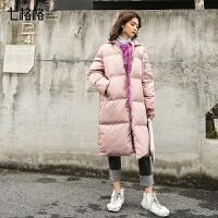 羽绒服女2019冬中长款韩版宽松时尚工装外套冬季装