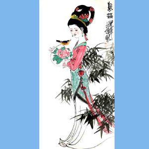 中国美术家协会副主席,广东画院院长,全国人大主席团成员林庸(鸟语)1