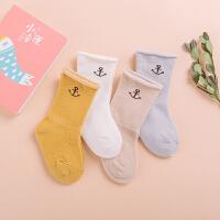 婴儿袜子0-3个月男女宝宝中筒袜松口卷边0-2岁纯棉春秋冬童袜