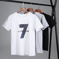 冰瓷棉夏季男士圆领运动t恤潮男装韩版半袖大码青少年学生宽松纯棉短袖T178