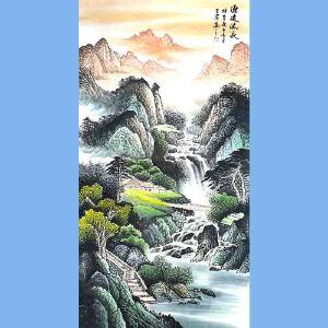 河南省美协会员,中国书画院高级院士,中国国家画院高研班会员王岩(源远流长)