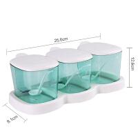 调料罐塑料家用调味盒套装厨房用品味精鸡精盐储存瓶罐