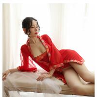 情趣内衣套装性感制服超骚诱惑大码小胸红色床上衣服胖mm挑逗激情