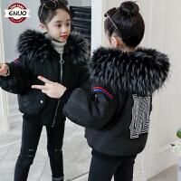 儿童冬季短款厚款洋气2018新款女孩棉服外套