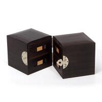 七夕情人节礼物木首饰盒 珠宝盒饰品盒手饰品项链收纳盒中式欧式复古