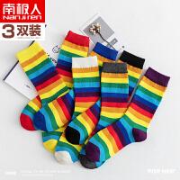 堆堆袜子女冬季中筒薄款韩国日系秋冬季长筒棉袜网红街头可爱ins潮