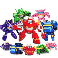 开心超人联盟玩具男孩变形机器人金刚套装合体机车侠花心超人玩具小心花心甜心粗心开心宝贝变形机器人