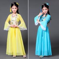 儿童古装唐装贵妃服女孩公主古筝汉服仙女装演出服