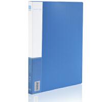 得力deli 5301文件夹插页A4单强力夹加插袋 单夹资料夹