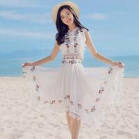 海边度假套装三亚旅游裙子女夏巴厘岛沙滩裙超仙显瘦时尚泰国性感 白色
