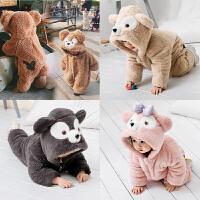 儿童连体衣可爱动物装家居服冬季男女宝宝睡衣