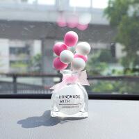 汽车饰品创意告白气球摆件车载香水 女 盆栽车内装饰摆件车用用品