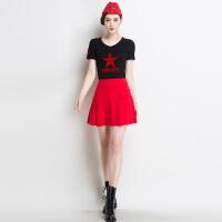 跳舞衣服女舞蹈服女莫代尔广场舞服装春夏套装新款女健身操服装